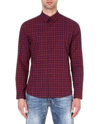 A.P.C. Mike Checked Shirt Red - Lyst