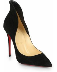 Christian Louboutin - Mea Culpa Suede High-back Collar Pumps - Lyst
