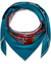 Emma J Shipley - Turquoise Frith Modal and Cashmere-blend Scarf - Lyst