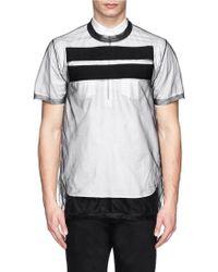 Givenchy Stripe Organza T-Shirt - Lyst