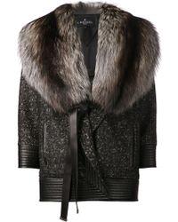 J. Mendel Oversized Coat black - Lyst