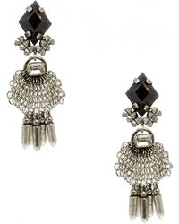 Dannijo Silver Clea Earrings - Lyst
