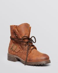 Jeffrey Campbell 2615-Ki Perforated Lace Up Combat Ankle Boots - Bloomingdale'S Exclusive - Lyst
