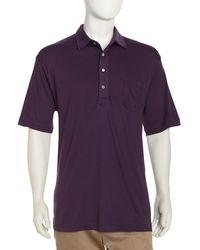 Peter Millar Silky Knit Golf Shirt - Lyst