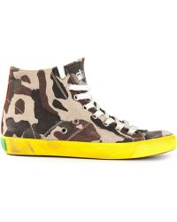 Leather Crown Camouflage Hitop Sneakers - Lyst