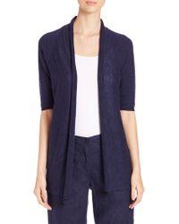 Eileen Fisher | Linen & Cotton Open Cardigan | Lyst