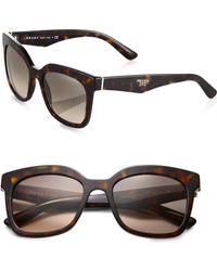 Prada Oversized Square Sunglasses - Lyst