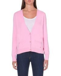 Juicy Couture Chiffon-back Knitted Cardigan - Lyst
