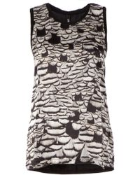 Neil Barrett Printed Top - Lyst