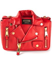 Moschino Biker Jacket Shoulder Bag - Lyst