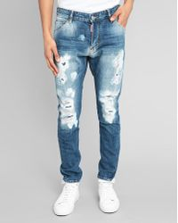 DSquared² Destroy Patched-Up Washed Slim-Fit Jeans - Lyst