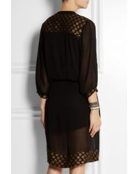 Day Birger Et Mikkelsen Aurora Metallic Embroidered Georgette Dress - Lyst