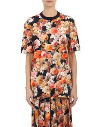 Givenchy Floral-print T-shirt - Lyst