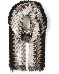 M Missoni - Zig Zag Crochet Knit Scarf - Lyst