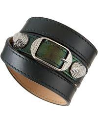 Balenciaga Giant 12 Leather Bracelet - Lyst