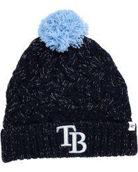4dcfef7b3f2 Womens Detroit Lions  47 Brand Light Blue Fiona Cuff With Pom Knit Beanie