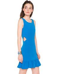 Pixie Market | Blue Me Away Peplum Cutout Dress | Lyst