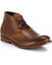 Walk-Over Vaughn Leather Chukka Boots - Lyst