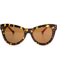 Preen Cambridge Sunglasses Tort Fuchsiabrown Mono - Lyst