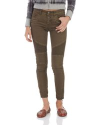 Free People Seamed Moto Skinny Pants - Lyst