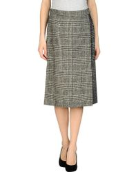 Yves Saint Laurent Rive Gauche 34 Length Skirt - Lyst