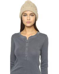 1717 Olive - Knit Pom Beanie Hat - Lyst