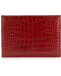 Graphic Image - Croc-Embossed Leather Horizontal Photo Bi-Fold - Lyst