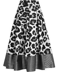 Sachin+babi Animal Printed Jacquard Ball Skirt - Lyst