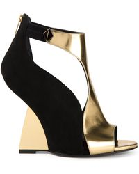 Sergio Rossi Structured Sandals - Lyst