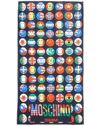 Moschino Smiley-Flag Print Towel - Lyst