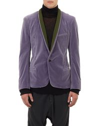 Haider Ackermann Velvet Single-button Sportcoat - Lyst