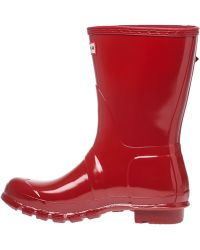 Hunter | Original Short Glossy Rubber Rain Boots | Lyst