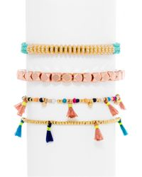 BaubleBar - Beaded Bracelets (set Of 4) - Lyst