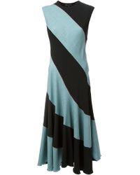 Jonathan Saunders Striped Dress - Lyst