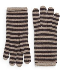 Portolano Minerva Striped Knit Tech Gloves - Lyst