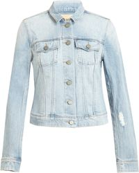 Paige Distressed Denim Jacket - Lyst