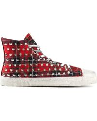 Gienchi Red Hitop Sneakers - Lyst