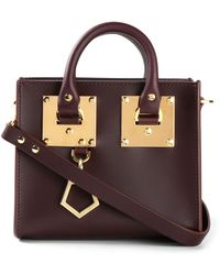 Sophie Hulme Purple Box Tote - Lyst