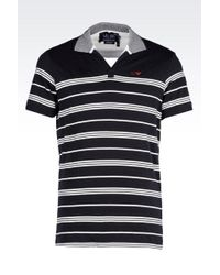 Armani Jeans Polo Shirt In Cotton Jersey - Lyst