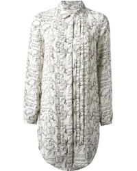 Tory Burch Key Print Blouse Dress - Lyst