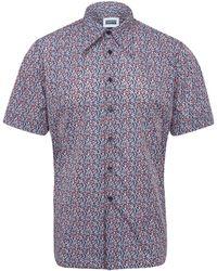 Christopher Shannon | Blue Floral Short Sleeve Shirt | Lyst