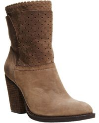 Steven by Steve Madden Kobrra Leather Heeled Boots - Lyst
