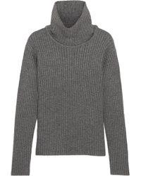 1205 - Ribbed Wool Turtleneck Jumper - Lyst
