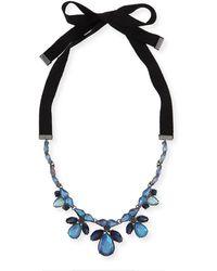 Marina Rinaldi - Latte Pendant Ribbon Necklace - Lyst