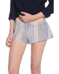 Xirena Shaya Striped Shorts gray - Lyst