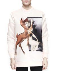 Givenchy - Bambi Silk-Satin Sweatshirt - Lyst