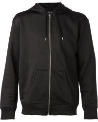 A.P.C. Black Hooded Jacket - Lyst