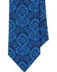 Barneys New York Blue Floral Tie - Lyst