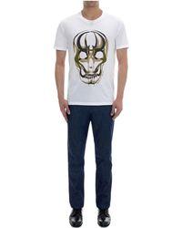 Alexander McQueen Samurai Skull Print T-shirt - Lyst