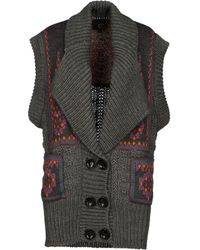 Just Cavalli Gray Cardigan - Lyst